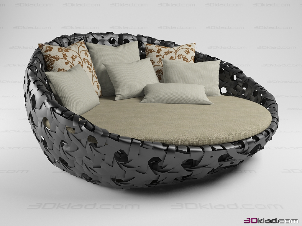 Captivating 3d Model Circular Sofa Canasta Street Bu0026B Italia Photo