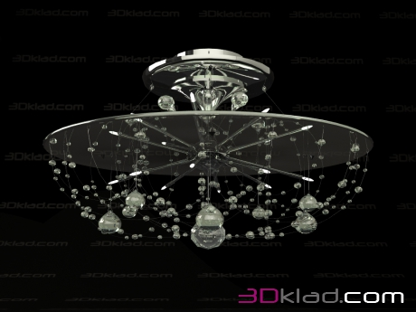 3d model chandelier DLU 16 2362 80 Orion