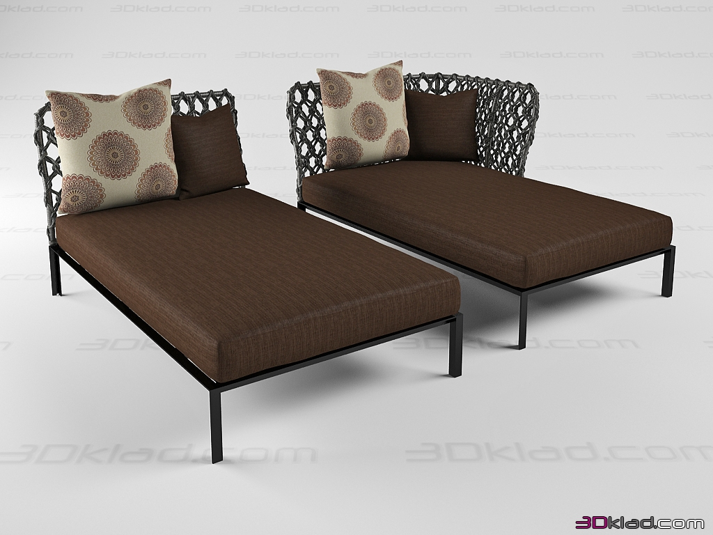 3d model couch ravel bb italia - Garden Furniture 3d Model