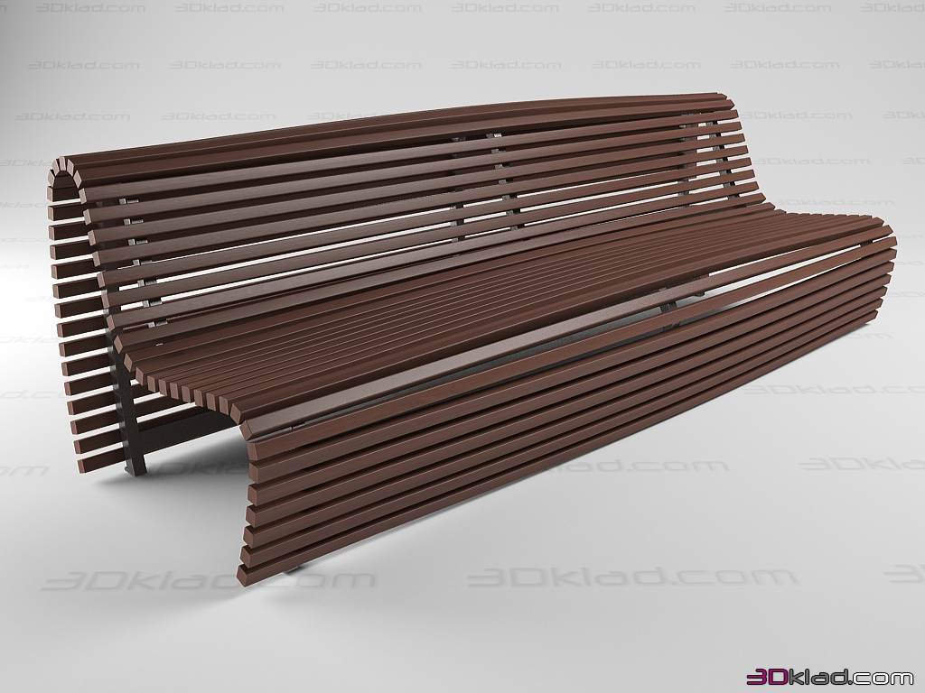 street bench Titikaka » Garden and outdoor furniture » 3d furniture