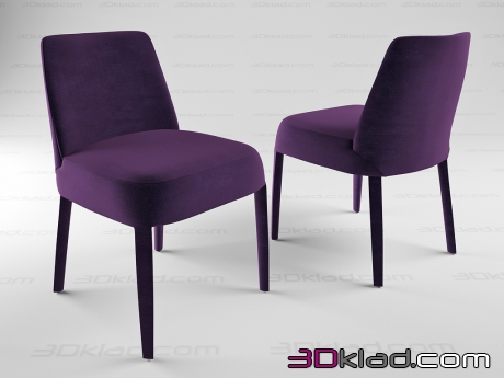 3d model dining chair Febo Maxalto