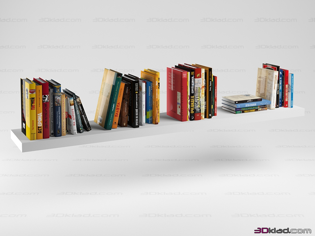 set of books » decor and accessories » 3d furniture models for 3d