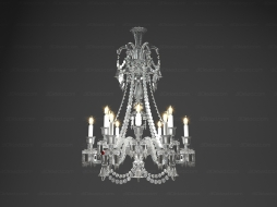Chandelier Lustre Zenith CCL 12 long 2 606 559