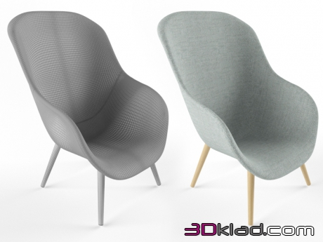 3d модель Кресло Lounge Chair Low AAL82 Hay