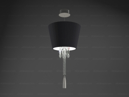 Torch ceiling Lamp Black lampshade unit 2 605 736
