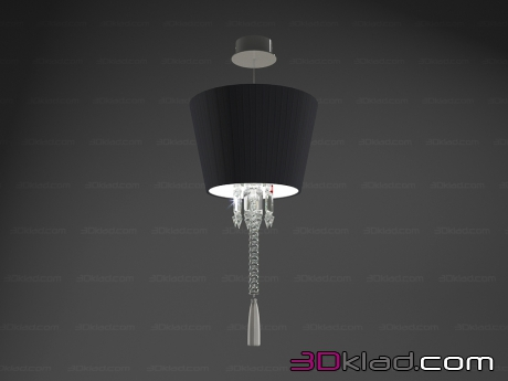 3d модель Светильник Torch ceiling unit Black lampshade 2 605 736 Baccarat