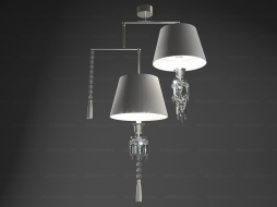 Lustre Torch Chandelier Mobile 2L