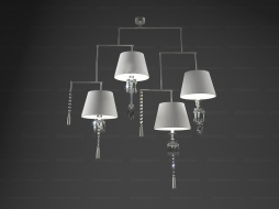 Chandelier Lustre Torch Mobile 4L