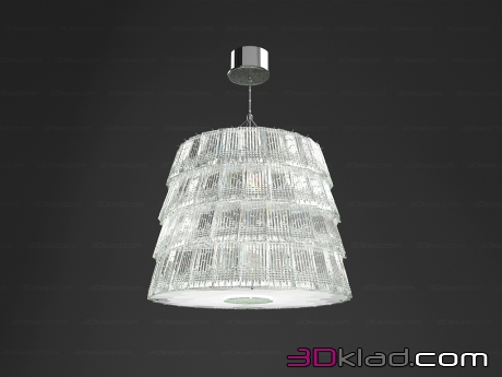 3d модель Люстра Tuile de Cristal Medium size Piccadilly Baccarat
