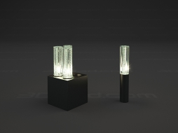Decorative luminaire Jardin de Cristal lamp 4L and diamond-cut Jallum LED