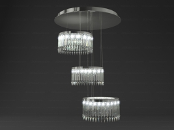 Chandelier Crinoline Lady Lustre Classique CEI 3 modules