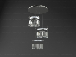 Chandelier Lustre Lady Crinoline Comete 3 modules CEI