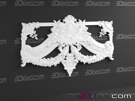 3d модель Baroque Ornament