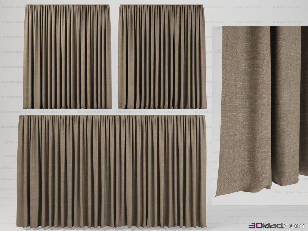 Shade smooth » 3d model curtains » 3d furniture models for 3d max