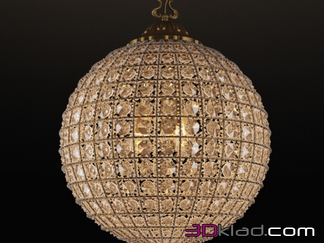 3d модель Alcazar Crystal Medium Chandelier CH054-3-VBN Gramercy home