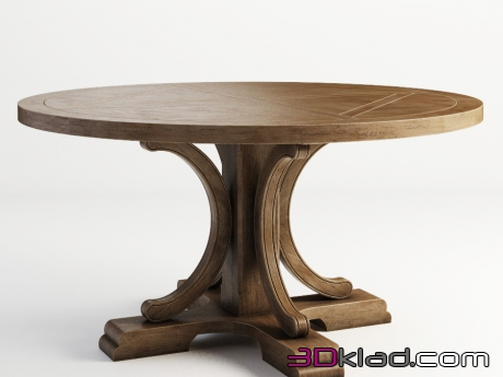 3d модель ALFORD ROUND TABLE 301.009-2N7 Gramercy home