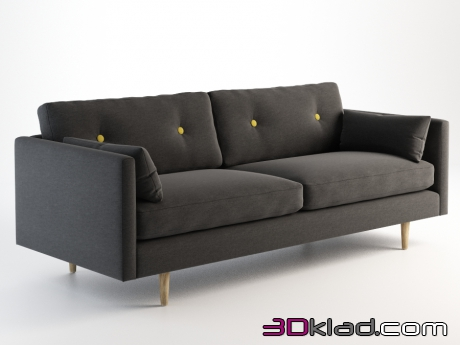 3d модель ANCHOR LARGE SOFA 101.020L Gramercy home