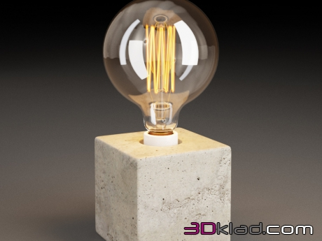 3d модель CUBE TABLE LAMP TL060-1 Gramercy home