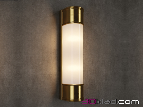 3d модель INDUSTRIAL TUBE SCONCE SN036-2-BRS Gramercy home