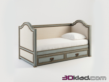3d модель LILY TWIN BED 001.004-FGG Gramercy home