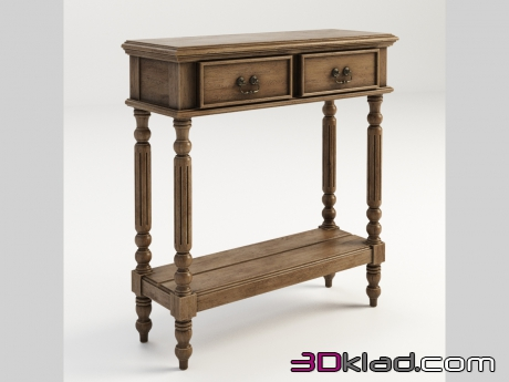 3d модель MORRIS SMALL CONSOLE TABLE 512.017S-2N7 Gramercy home