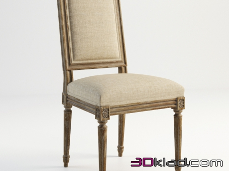 3d модель OLIVER SIDE CHAIR 442.003 Gramercy home