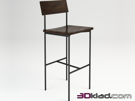 3d модель TIBO BAR STOOL 445.001-SE Gramercy home