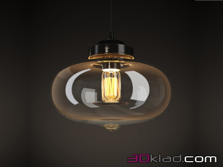 3d модель VIJAY GLASS CHANDELIER CH089-1 Gramercy home