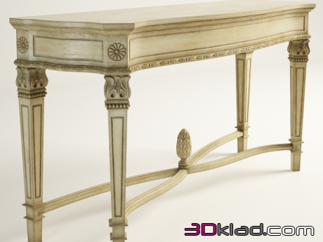 3d модель AMABEL CONSOLE TABLE 512.016 Gramercy home