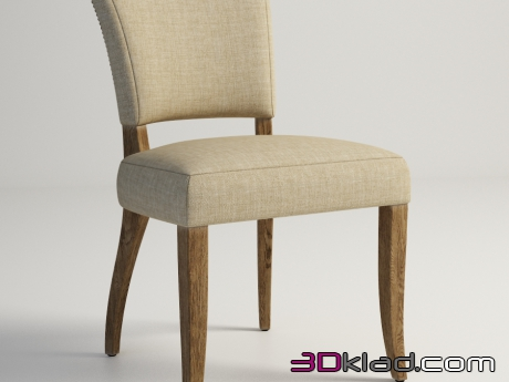 3d модель BEATRICE CHAIR 442.007-F01 Gramercy home