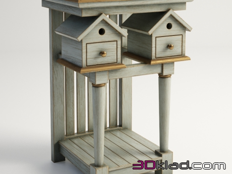 3d модель BIRDHOUSE SIDE TABLE 522.013-FGG Gramercy home