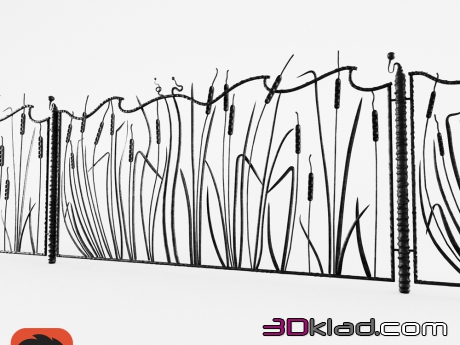 fence of reeds » decor and accessories » 3d furniture models for 3d