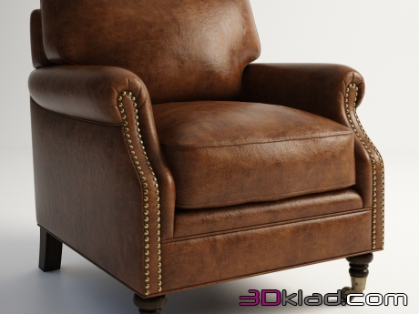 3d модель кресло CLIFFORD ARMCHAIR 602.009 Gramercy home