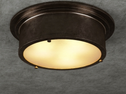 светильник INDUSTRIAL ROUND FLUSH MOUNT CH034-3-ABG