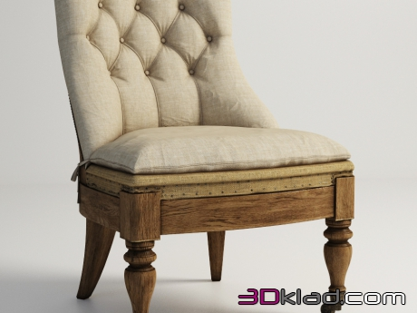 3d модель кресло KEMPER DECONSTRUCTED CHAIR 603.006-F01 Gramercy home