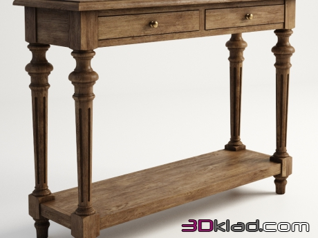 3d модель консоль MARLOW CONSOLE TABLE 512.002-2N7 Gramercy home