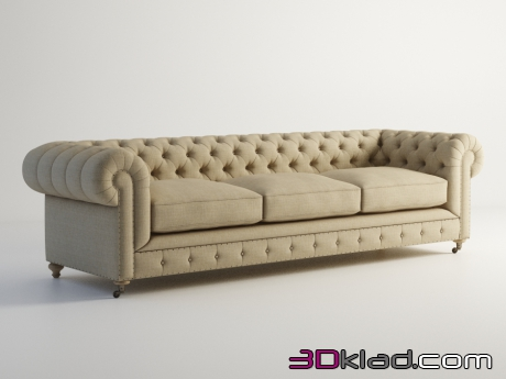 3d модель диван OLD CHESTER SOFA 101.005XXL-F01 Gramercy home