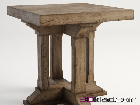 3d модель столик PRESTON SIDE TABLE 522.010-2N7 Gramercy home