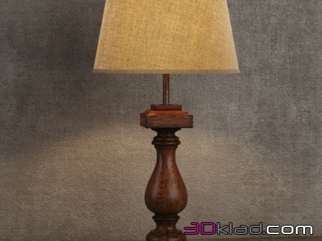 3d модель лампа Table Lamp TL079-1-ABG Gramercy home