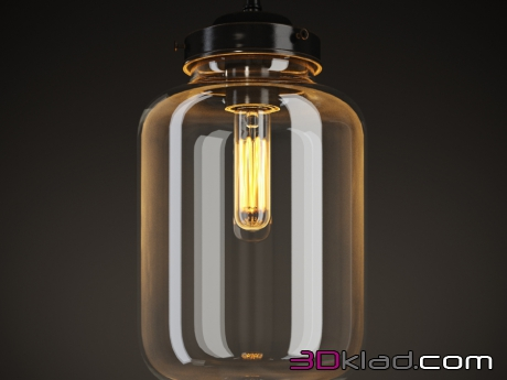 3d модель светильник VIJAY CUPPING-GLASS CHANDELIER CH090-1 Gramercy home