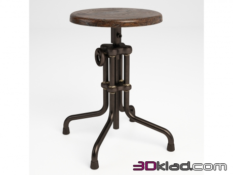 3d модель табурет ISAAC COUNTER LOW STOOL 445.002B Gramercy home