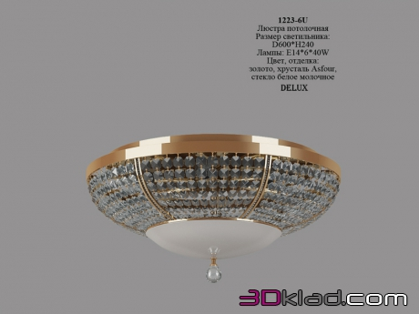 3d модель люстра Delux 1223-6U Favourite Light