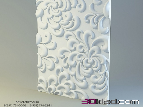 gypsum decorative wall panel Art 110 » 3d panel » 3d furniture ...