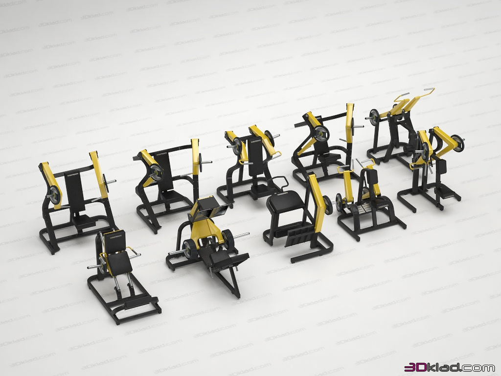 Pure Strength Group 1 » 3d model of sport » 3d furniture models for
