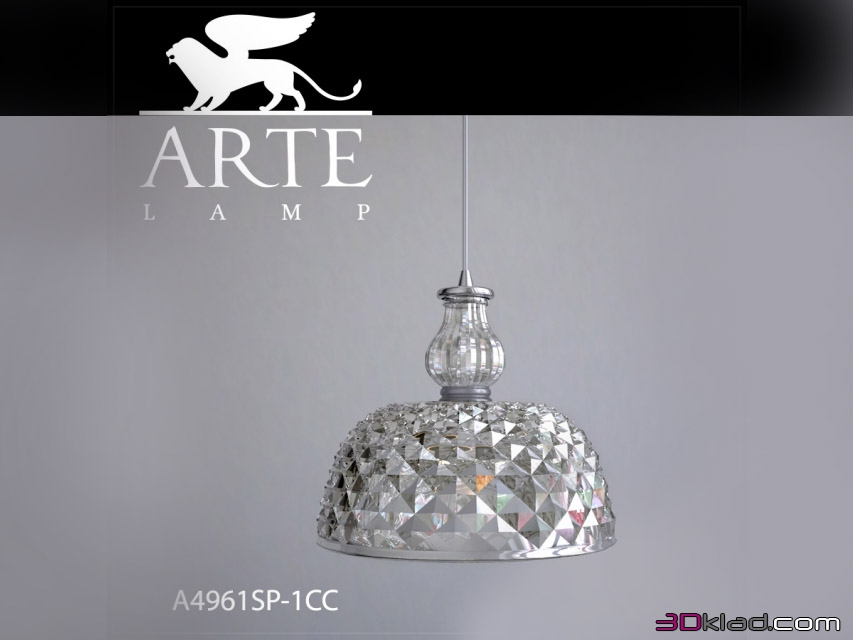 Pendant lamp A4961SP-1CC » 3d lighting model » 3d furniture