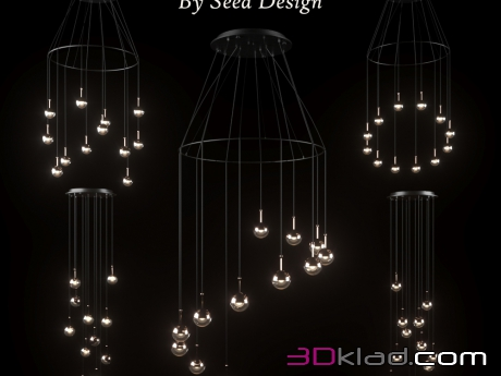 chandelier Dora LED Multi Light » 3d lighting model » 3d furniture ...