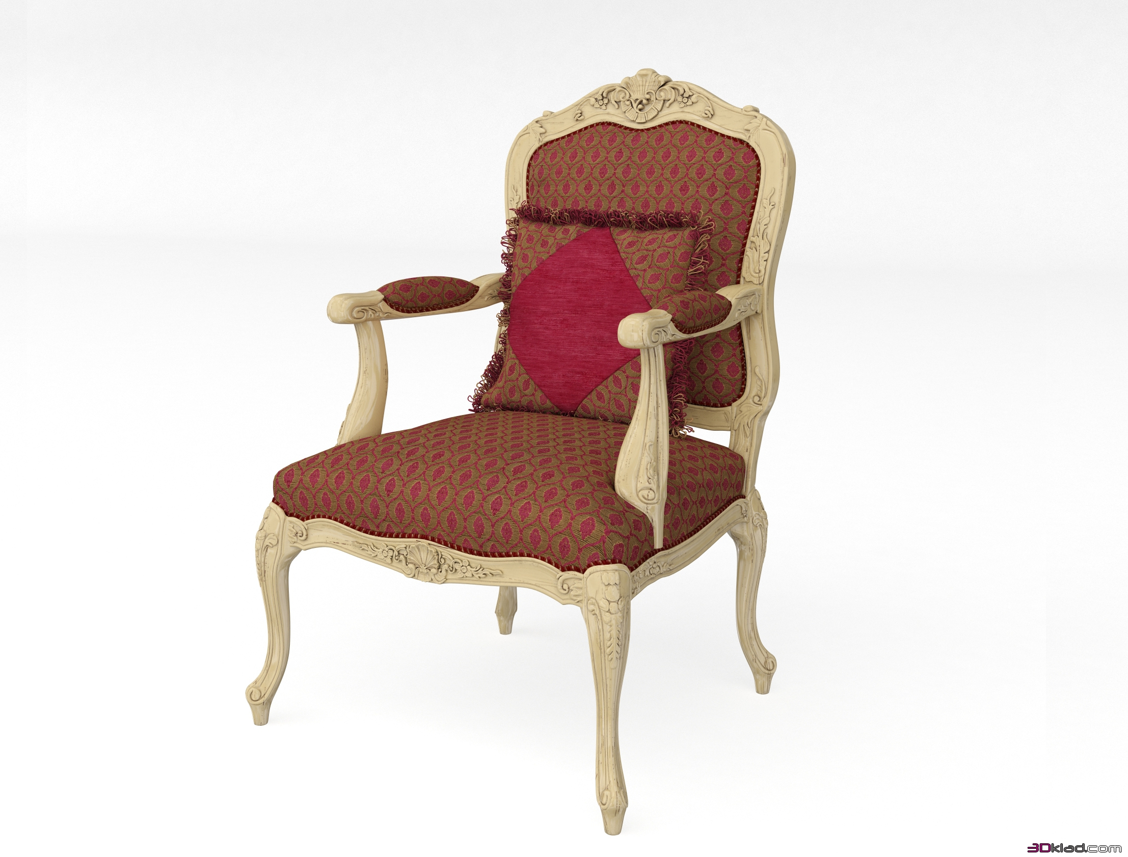 Classic chair art 13433 3d model armchair 3d furniture for Model furniture