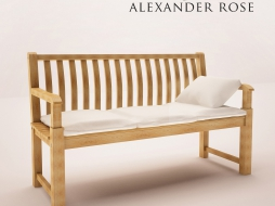 outdoor bench - Garden Furniture 3d Model