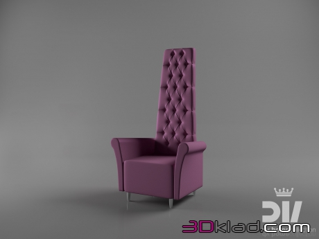3d модель кресло Charme Dv home collection