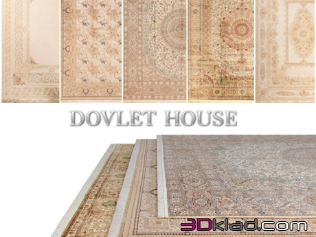 3d модель Ковры DOVLET HOUSE 5 штук (part 84) Dovlet house